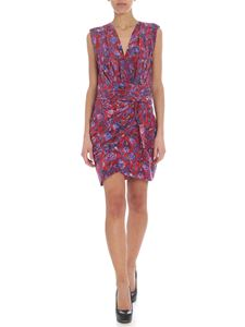 Iro - Swing red dress with floral print