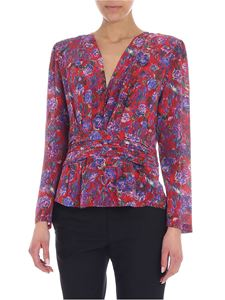 Iro - Hurl red blouse with floral print