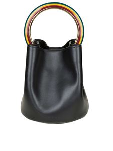 Marni - Pannier leather bag with multicolor resin handle
