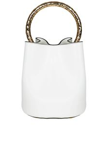 Marni - Pannier white bag with golden metal handle