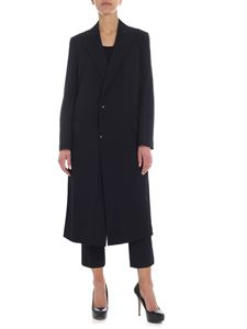 Y's Yohji Yamamoto - Single-breasted black wool coat