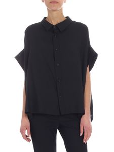 Y's Yohji Yamamoto - Y's black overfit shirt with short sleeves