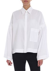 Y's Yohji Yamamoto - Y's white boxy shirt with dropped shoulder
