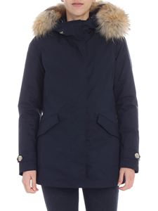 Woolrich - 3IN1 Arctic blue hooded down jacket