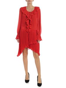 Philosophy di Lorenzo Serafini - Red pleated Philosophy dress with nude effect