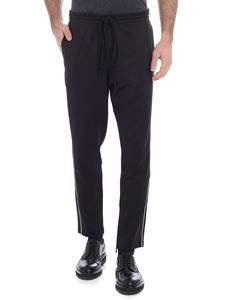 Valentino - Black trousers with white edges