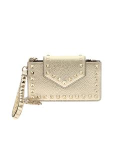 Valentino - Golden Rockstud phone holder with studs