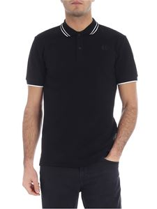 McQ Alexander Mcqueen - Black polo with swallow embroidery