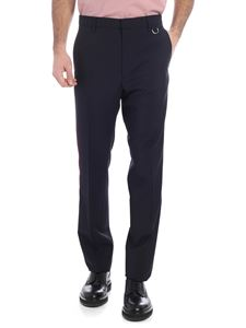 Valentino - Blue trousers with a pink side band