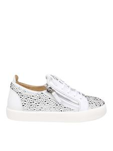 Giuseppe Zanotti - Gail Crystal white leather sneakers