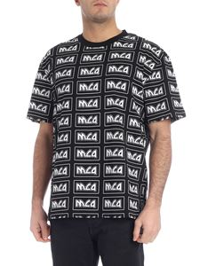 McQ Alexander Mcqueen - Black T-shirt with all-over MCQ print
