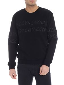McQ Alexander Mcqueen - Black sweatshirt with MCQ embroidery