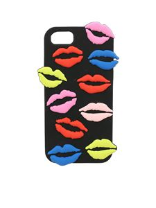 Lulu Guinness - Cover nera Lip Blot per iPhone 6/7