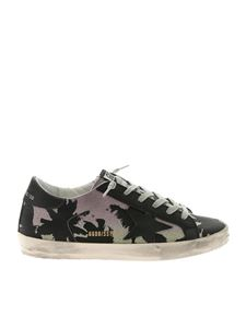 Golden Goose Deluxe Brand - Black Superstar sneakers with lilac glitter