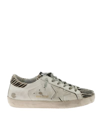 Golden Goose Deluxe Brand - White Superstar sneakers with striped details