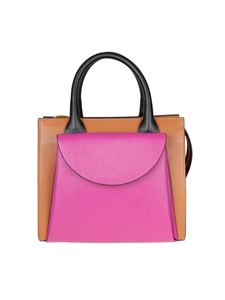 Marni - Low brown and fuchsia Marni bag