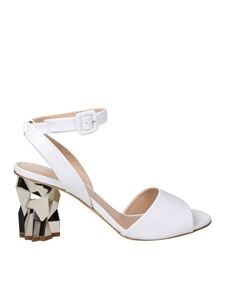 Giuseppe Zanotti - White sandals with sculpture heels