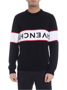 Givenchy - Black pullover with reverse inlay