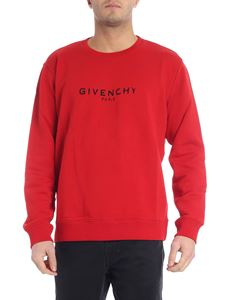 Givenchy - Red sweatshirt with vintage logo