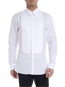 Givenchy - White slim fit shirt with plastron