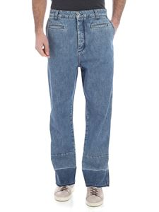 Loewe - Fisherman blue jeans with raw-cut bottom