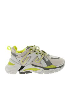 Ash - Flash white and neon yellow sneakers