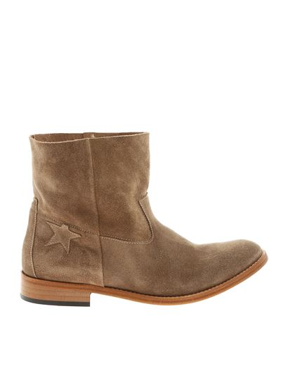 Golden Goose Deluxe Brand - Beige ankle boots with side star