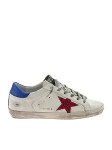 Golden Goose Deluxe Brand - Superstar white sneakers with fuchsia star