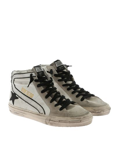 Golden Goose Deluxe Brand - Slide black and white sneakers