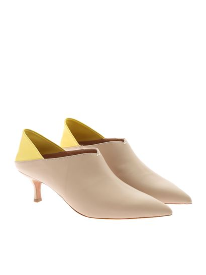 Golden Goose Deluxe Brand - Simone beige pumps with yellow detail