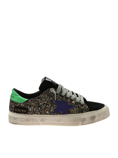Golden Goose Deluxe Brand - May sneakers with gold glitter
