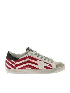 Golden Goose Deluxe Brand - White Superstar sneakers with red prints