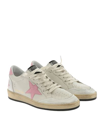 Golden Goose Deluxe Brand - Ball Star white and pink sneakers