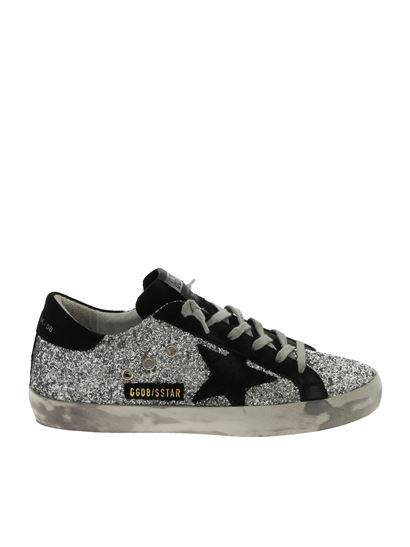 Golden Goose Deluxe Brand - Superstar silver and black glittery sneakers