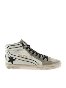 Golden Goose Deluxe Brand - Sneakers Slide bianche e nere effetto vintage