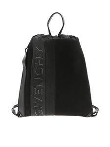 Givenchy - Zaino MC3 drawstring nero con logo bicolor