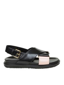 Marni - Black and pink Fussbett Marni sandals