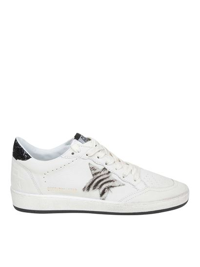 Golden Goose Deluxe Brand - Ball Star sneakers with zebra calfhair star
