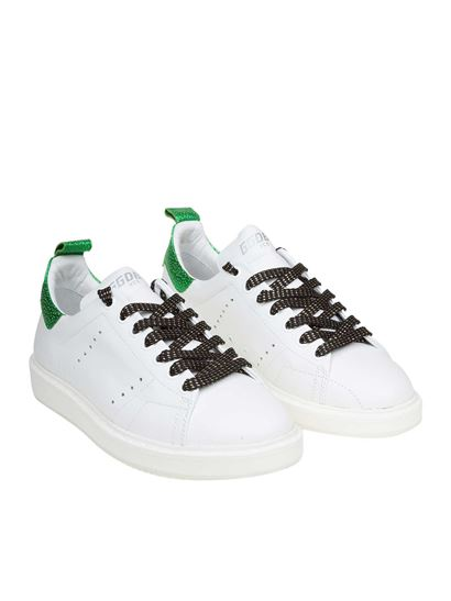 Golden Goose Deluxe Brand - Starter sneakers with green heel