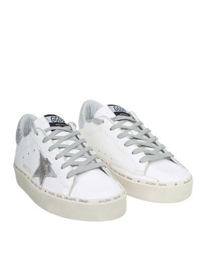 Golden Goose Deluxe Brand - White Hi-Star sneakers with logo letterings
