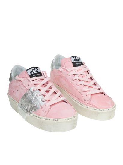 Golden Goose Deluxe Brand - Hi Star pink and silver sneakers