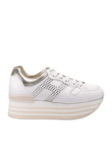 Hogan - Maxi H222 white and ivory sneakers