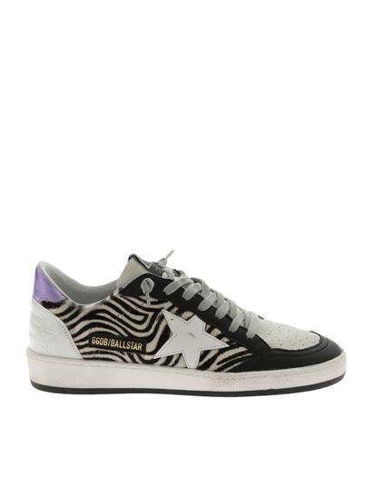 Golden Goose Deluxe Brand - Ball Star white and black sneakers