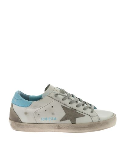 Golden Goose Deluxe Brand - Superstar white and blue sneakers