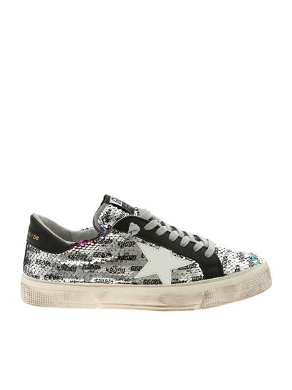 Golden Goose Deluxe Brand - May silver and black sneakers