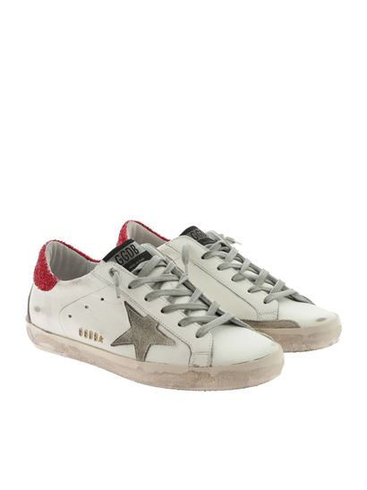 Golden Goose Deluxe Brand - Superstar white and red sneakers