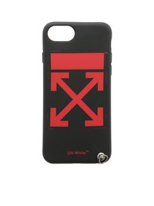 Off-White - Arrow black iPhone 8 Cover with red print