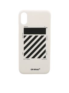 Off-White - Diag white and black iPhone X cover