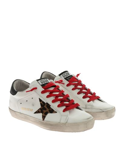 Golden Goose Deluxe Brand - Superstar white sneakers with animal star