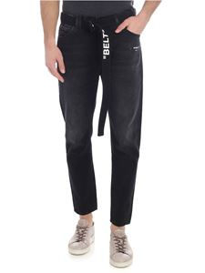 Off-White - Slim Low Crotch black jeans